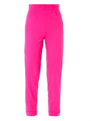 Techno wool high-rise tailored trousers