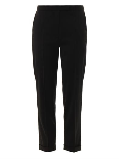 Osman Straight-leg cropped trousers