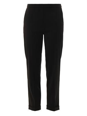 Straight-leg cropped trousers