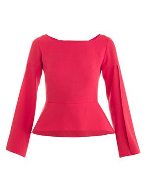 Split-sleeve peplum top