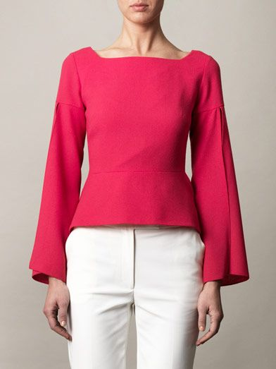Osman Split-sleeve peplum top