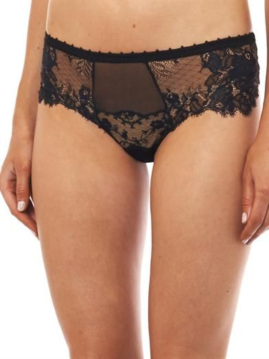 La Perla Maharani lace and tulle briefs