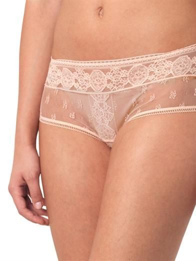 La Perla Saree lace-front shorts