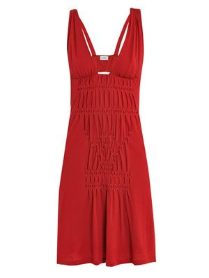 Smock pleated beach dress