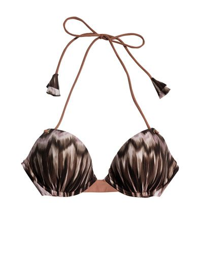 La Perla Ikat-print bikini top