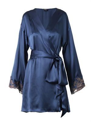 Maison silk-blend kimono-robe