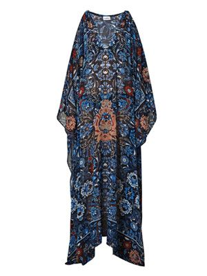 Floral China tea cup print kaftan