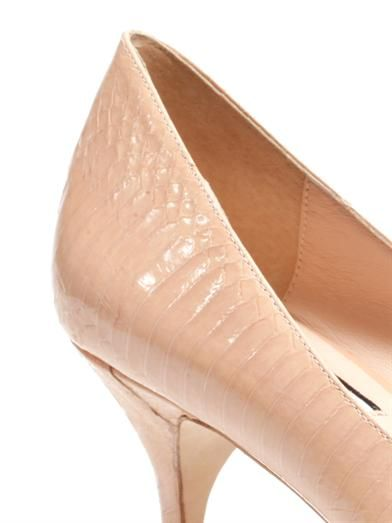 Lucy Choi London Ruby embossed leather pumps
