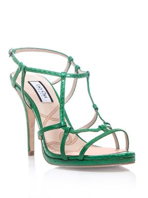 Snake-textured Freesia sandals