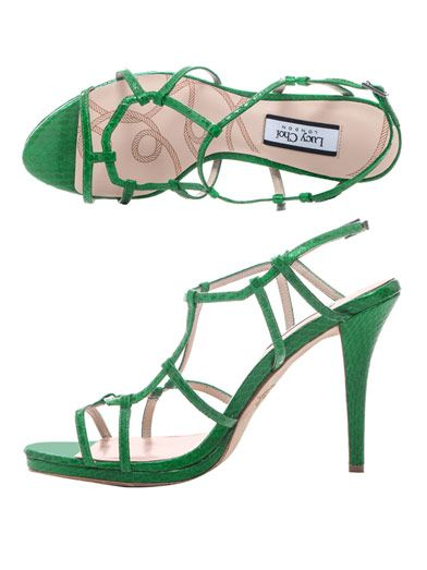 Lucy Choi London Snake-textured Freesia sandals