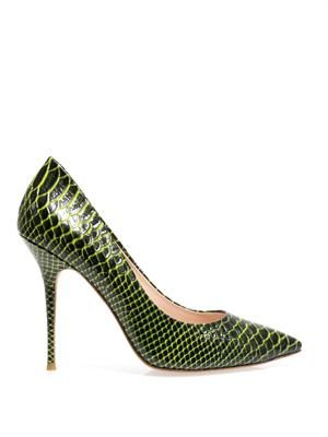 Hampstead embossed leather pumps