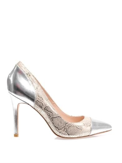 Lucy Choi London Kew snake-print leather pumps