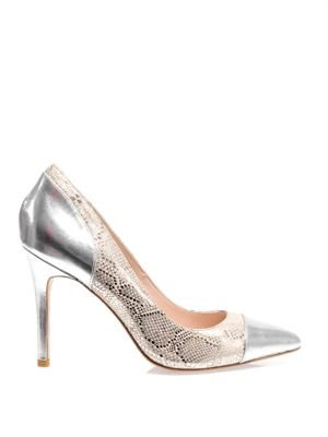 Kew snake-print leather pumps