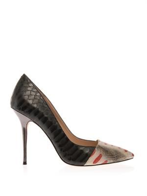 Cantebury snake-effect leather pumps