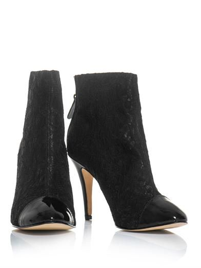 Lucy Choi London Eugenie lace ankle boots