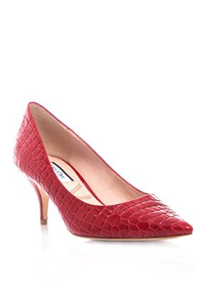 Croc-textured Ruby pumps