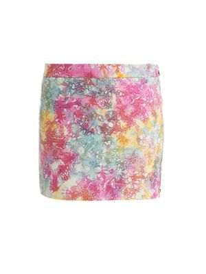 Tie-dye leather skirt
