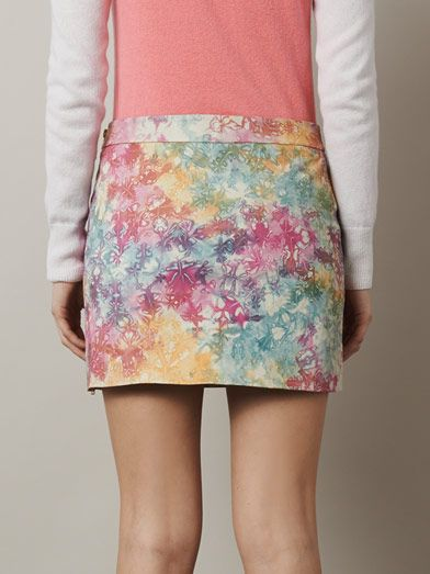 House Of Holland Tie-dye leather skirt