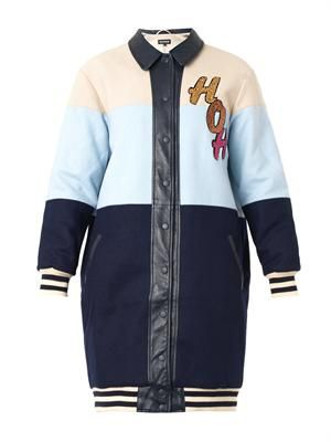 Sequin-embellished Varsity coat