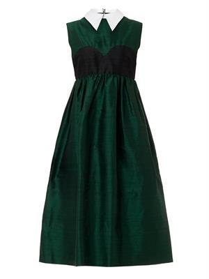 Aurora raw-silk dress
