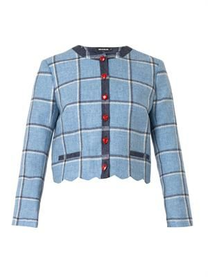 Coco check wool jacket