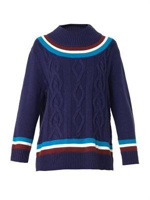 Crew-neck cricket sweater