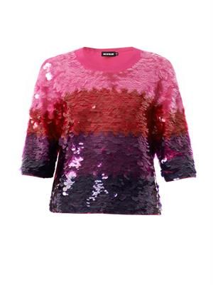 Ombré sequin-embellished sweater