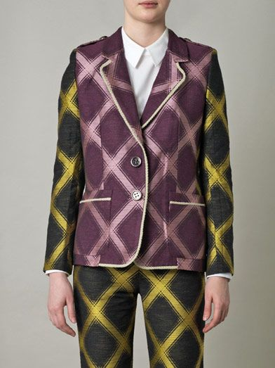 House Of Holland Check jacquard single-breasted jacket