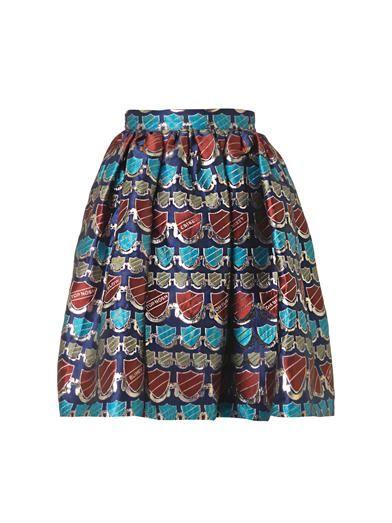 House Of Holland Crest-jacquard dirndl skirt