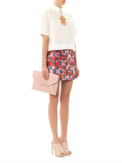 House Of Holland Tropical dove-print mini skirt