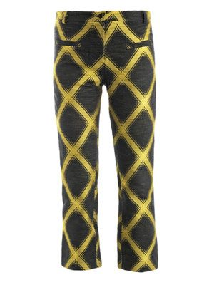 Check jacquard trousers