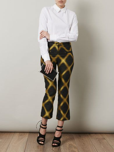 House Of Holland Check jacquard trousers