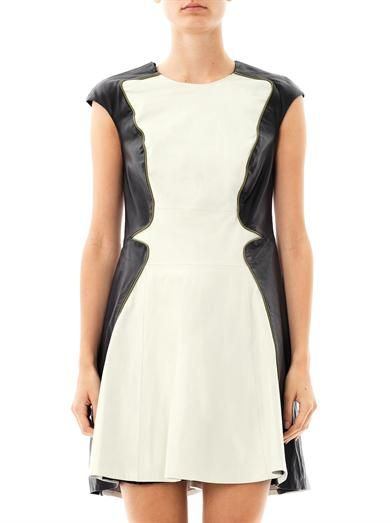 Ohne Titel Panelled leather dress
