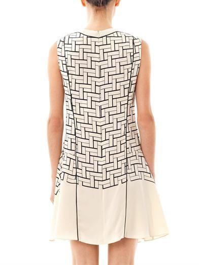 Ohne Titel Weave-print silk dress