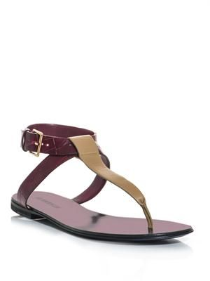 Leather bi-colour sandals