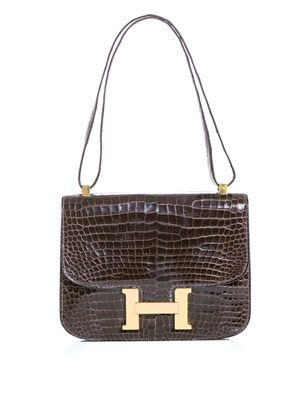 Crocodile skin Constance bag