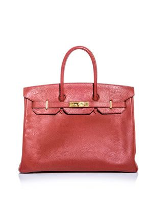 Birkin 35 leather bag