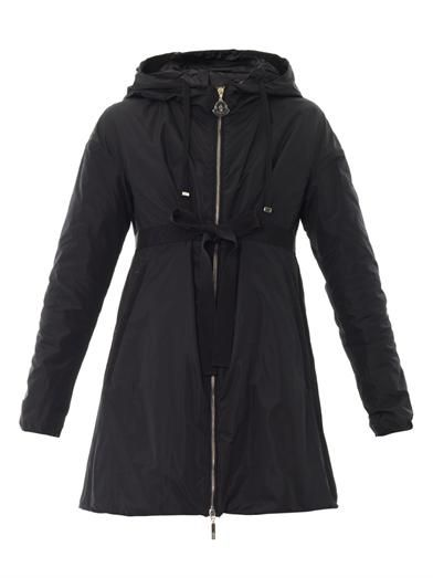 Moncler Ebene lightweight navy coat