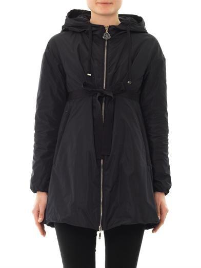 Moncler Ebene lightweight navy coat