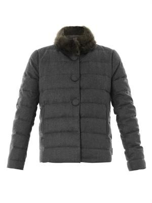 Cirse fur-collar quilted coat
