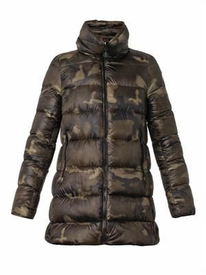 Torcy camouflage quilted down coat