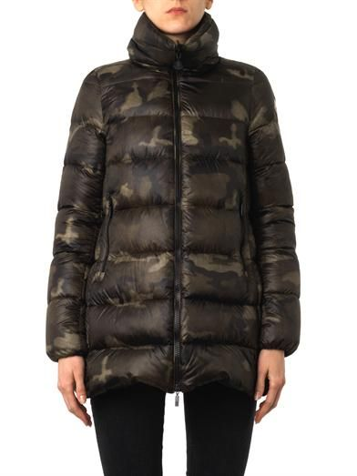 Moncler Torcy camouflage quilted down coat