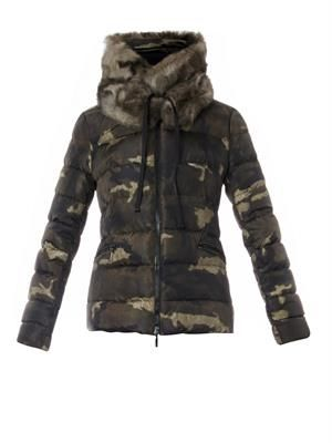 Bonlieu camo-print quilted down jacket