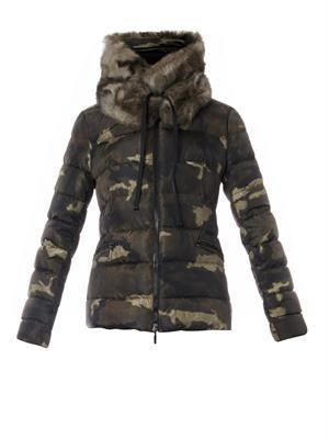 Bonlieu camo-print quilted down jacket