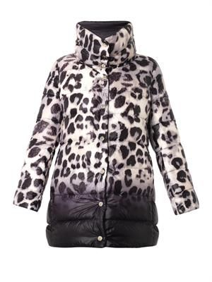 Charmes reversible quilted down coat