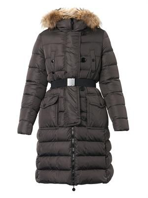Genevrier fur-trim quilted down coat