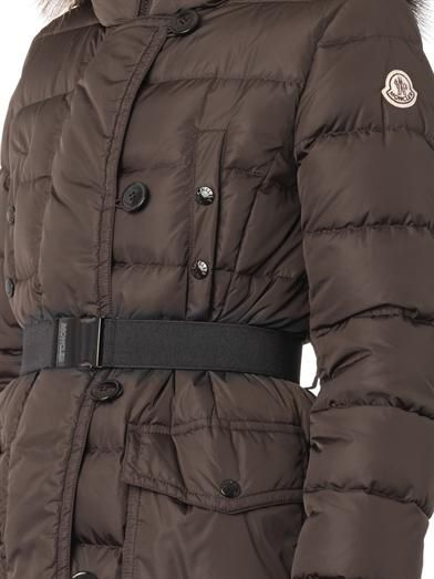Moncler Genevrier fur-trim quilted down coat