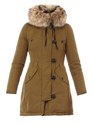 Arrious fur-trimmed hood coat