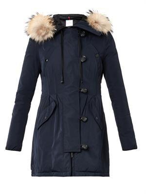 Arrious fur-trimmed hood coat