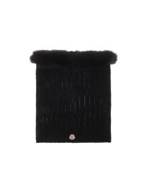 Wool and fur snood